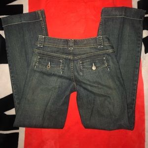 Banana Republic wide leg jeans with cuff size 4
